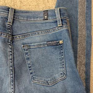 7 jeans High Rise w Retro Stripe